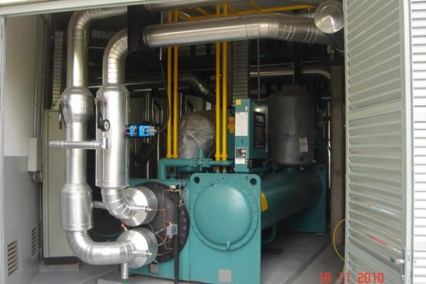 Vista do resfriador de líquido CH-02