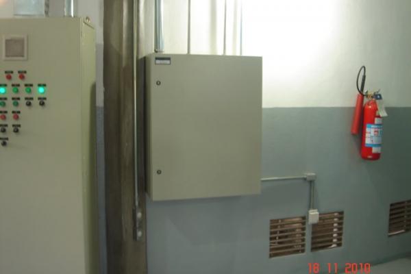 Vista do painel de automação da cag